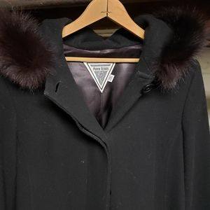 Marvin Richard's Wool and fur coat size 8
